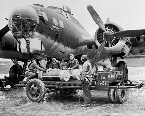 WWII B-17 Flying Fortress Ground Crew 11x14 Silver Halide Photo Print