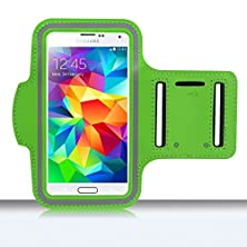 buy Haio Samsung Galaxy S5 Case Gym Armband Sport Cover Running For Samsung Galaxy S5 (G900) [Case Cover + Stylus Pen] - Green