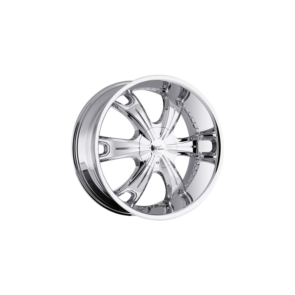 Milanni Stellar 24 Chrome Wheel / Rim 5x4.5 & 5x4.75 with a 15mm Offset and a 83 Hub Bore. Partnumber 452 24904C15