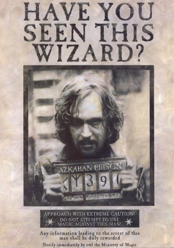 Harry Potter and the Prisoner of Azkaban Wanted Movie Poster - 11x17