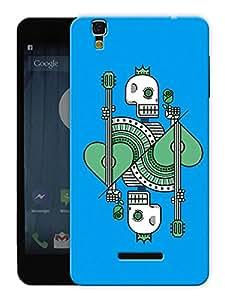 "Humor Gang Skull Card Printed Designer Mobile Back Cover For ""Yu Yureka"" (3D, Matte, Premium Quality Snap On Case)"