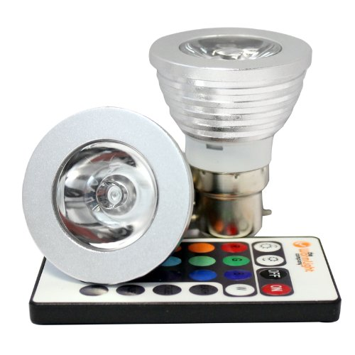 Miniwatts B22 3W Rgb Colour Changing Led Spotlight Bulb