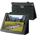 eForCity Leather Case with Stand for Apple iPad 2/3/4, Black (PAPPIPADLC08)