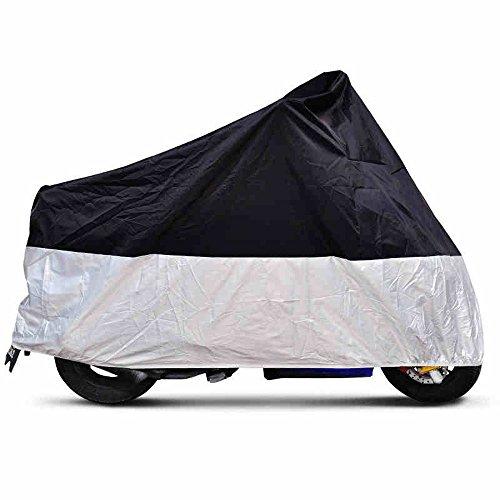 CARCHET Telo Coprimoto Copri Scooter Moto Impermeabile Antipolveri Nero 245cm
