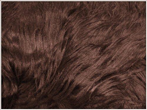 Genuine Sheepskin Rug Six Pelt Brown Fur 6' X 5'6