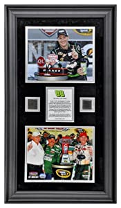 Dale Earnhardt Jr. 2012 Quicken Loans 400 Framed 8 x 10 Photos with Race-Used Tire -... by Sports Memorabilia