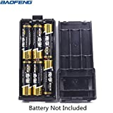 6xAA Battery Case Shell For Portable Baofeng UV-5R Series Radio Two Way Transceiver Walkie Talkie (Black) (Color: Black, Tamaño: Battery Case Shell (6xAA))