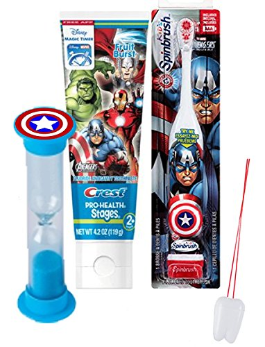 marvel-avengers-3pc-bright-smile-oral-hygiene-set-turbo-powered-toothbrush-toothpaste-brushing-timer