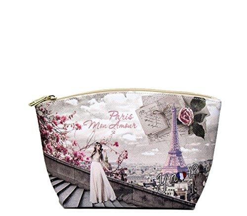Y NOT? donna beauty case F-309 MON AMOUR PARIS UNICA Stampa-Panna