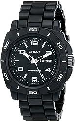 Sprout Men's ST/3801BKBK Water Resistant Black Corn Resin Bracelet Water-Resistant Bio-Degradable Watch