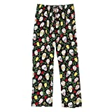 Women's Sugar Skull Black Cotton Pajama Pants