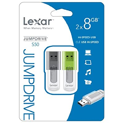 Lexar JumpDrive S50 8GB USB Flash Drive LJDS50-8GBASBNA2 - 2 Pack