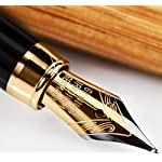Pilot E95s Fountain Pen, Black Barrel with Gold Accents, Blue Ink, Fine Nib (60837)