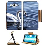 Samsung Galaxy Mega 5.8 Flip Case Young swan on the river with a dark blue background 36801484 by MSD Customized Premium Deluxe Pu Leather generation Accessories HD Wifi 16gb 32gb Luxury Protector Case Reviews