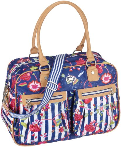 Oilily Carry All OCB1103-5000, Damen, Henkeltaschen, Blau (Blue / White), 43 x 16 x 30 cm (B x H x T)