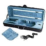Neewer® 4/4フルサイズのプロフェッショナル長方形バイオリンキャリーハードケース、ハイテックスーパーライトサスペンションクッションが付き-ブラック