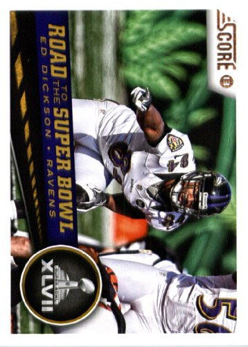 2013 Score Nfl Football Trading Card # 260 Ed Dickson Road To The Super Bowl Baltimore Ravens ( In Protective Screwdown Case)