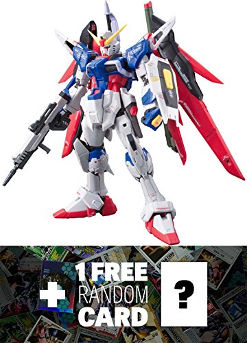 ZGMF-X42S Destiny Gundam: Gundam Real Grade 1/144 Model Kit + 1 FREE Official Gundam Japanese Trading Card Bundle [RG #011] (Gundam 144 Master Grade compare prices)