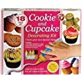 18 Piece Cookie & Cupcake Decorating Kit - Twin Stripe Icing Bottle!