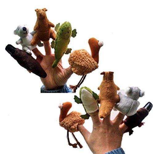 VIASA 5pcs Animal Finger Puppet Plush Child Baby Gift