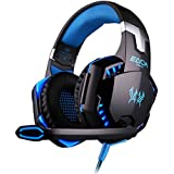 DIZA100 KOTION EACH G2000 Over-ear Game Gaming Headphone Headset Earphone Headband With Mic Stereo Bass LED Light... - B019IHTQYQ