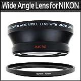 67MM 0.43X Wide Angle Lens With Macro For Nikon D200 D100 D2H D80 D50 D70 D70S D90 That Use FOLLOWING NIKON LENSES 18-105mm, 18-135mm