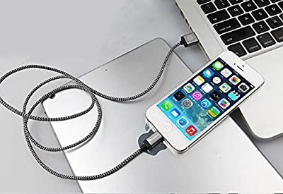 Lightning Cable, iOrange-E™ 3.3ft (1M) USB Sync Braided Cable with Aluminum Connectors for iPhone by iOrange-E