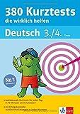 Klett 380 Kurztests, die wirklich helfen: Deutsch 3./4. Klasse (Die kleinen Lerndrachen): Die kleinen Lerndrachen, Deutsch 3./4. Klasse