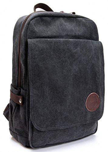 Cheapest Prices! Zebella Vintage Canvas Laptop Backpack School College Rucksack Bag