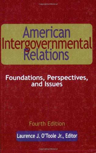 American Intergovernmental Relations, Fourth Edition