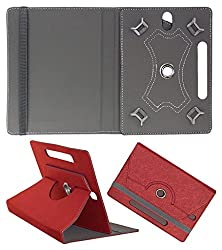 DMP Designer 360 Degree Rotating Leather Flip Case Book Cover With Stand For Zomo Sprint Max 4 GB - Red