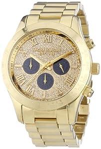 Michael Kors Damen-Armbanduhr XL Chronograph Quarz Edelstahl MK5830