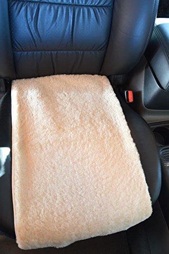 Autofell -Autositz- Auflage aus Lammfell 36cm Breite für Sitzfläche Premium (Sekt) Direkt vom Hersteller (im Sommer kein Schwitzen)