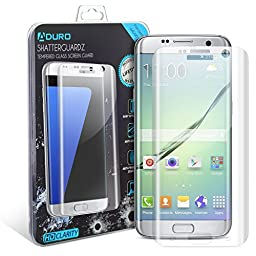 Galaxy S7 Edge Screen Protector, Aduro® SHATTERGUARDZ Tempered Glass Screen Protector Ballistic Premium High HD Clarity for Samsung Galaxy S7 Edge [Lifetime Warranty]