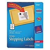 Laser Labels, Mailing, Permanent, 3-1/3&quot;x4&quot;, 600/BX, White