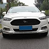 Amooca Black Front upper Honeycomb Billet Grille Mesh Grill Grille Insert Trim fit for 2013 2014 2015 Ford Mondeo Fusion