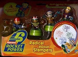 Rocket Power Radical Rocket Stampers 4 Pack Including Twister, Otto, Sam and Reggie