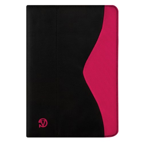 Magenta Black Color Soho Durable Hard-Shell Construction Nylon Stand Alone Smart Case, Lightweight, Protective Slimline Sturdy, Flip Folio Book Style Design For Acer Iconia Tab A700 / A510 10.1-Inch Tablet ( Android 4.0 Ice Cream Sandwich Tab )