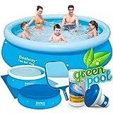 6in1 Set Green Gartenpool 305 x 76 cm Quick-up Pool
