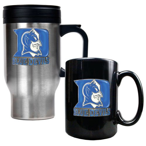 NCAA Duke Blue Devils Stainless Steel Travel Mug & Ceramic Mug Set at Amazon.com