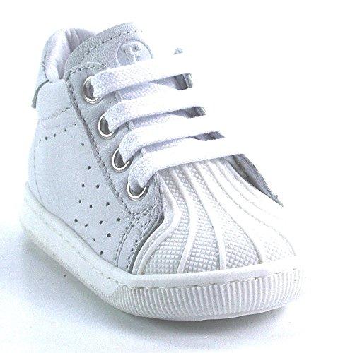 FALCOTTO - Scarpa bianca in pelle, ideale per il gattonamento e il primo passo, Unisex Bambino-24