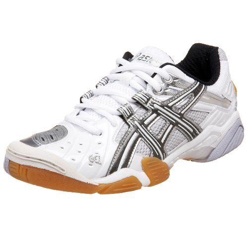 Asics Women'S Gel-Domain Court Shoe,White/Black/Silver,9.5 B Us