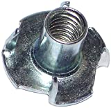 Hard-to-Find Fastener 014973323080 Pronged Tee Nuts, 1/4-20 x 7/16-Inch