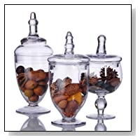 MINI GLASS APOTHECARY JARS