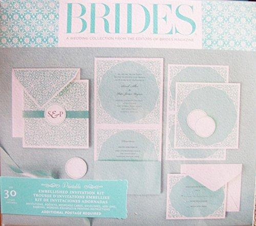 30 Aqua Square Ornate Wedding Invitation From Brides Magazine Arts Entertainment Party
