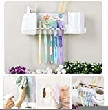 Cute Angel Bear Multipurpose Toothbrush Stand with Cup - Comes with 2 Vacuum Pads for Easy Wall Mounting