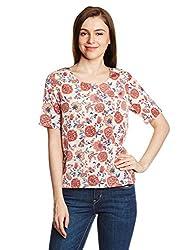 Lee Women's Body Blouse Shirt (LESH8852_Crème_Large)