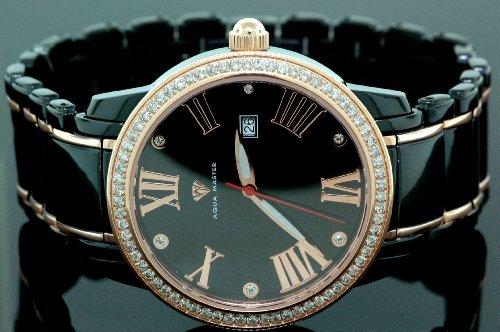 AQUA MASTER 0112MUWV2KH - Reloj para hombres, correa de metal color negro