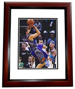 Steve Nash Autographed Hand Signed Phoenix Suns 8x10 Photo - MAHOGANY CUSTOM FRAME by Real Deal Memorabilia