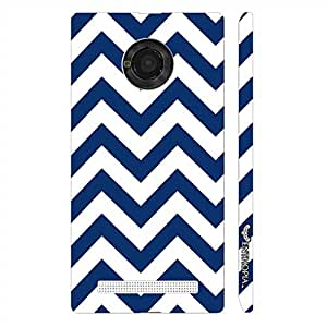 Micromax Yu Yuphoria CHEVRON WAVE designer mobile hard shell case by Enthopia